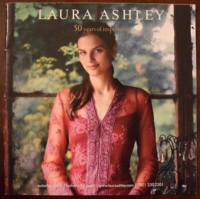 """Rare """"Laura Ashley 50 years of inspiration autumn 2003 fashion by post"""", Vgc"""