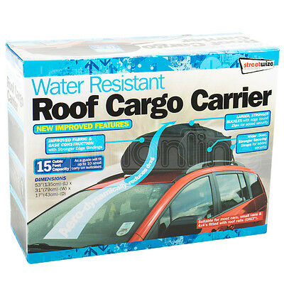 458L Water Resistant Roof Cargo Carrier Bag Car & Van Box Storage Travel SWRB9