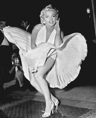 Marilyn Monroe Seven Year Itch Glossy Black & White Photo Picture Print A4