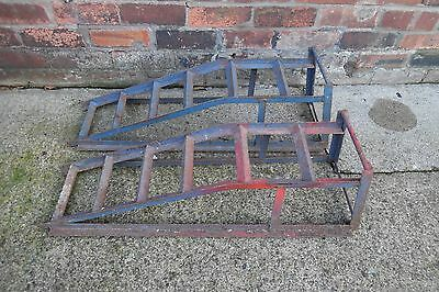 Set Of Car Ramps Garage Or Home Use