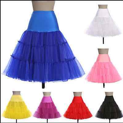 "50s Vintage Petticoat 26"" Underskirt Swing Fancy Net Skirt Rockabilly Tutu DRESS"