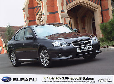 Subaru Legacy 3.0R Spec B Saloon Press Photographs - 2007