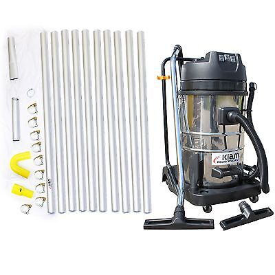 £8 / WEEK on LEASE Gutter Cleaning System Vacuum Cleaner Kiam 40ft 12m Poles