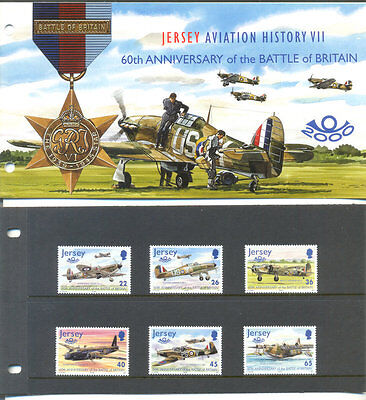 Jersey-Battle of Britain set & Presentation pack-mnh-Military-Aviation