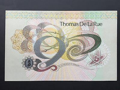 Great Britain Thomas de la Rue Large Test Promotional Note