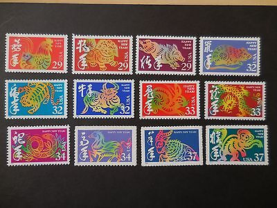 Chinese Lunar New Year Stamp - Complete Set MNH