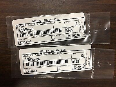 3M 929955-06 2 Position Shunt Connector - Lot of 20