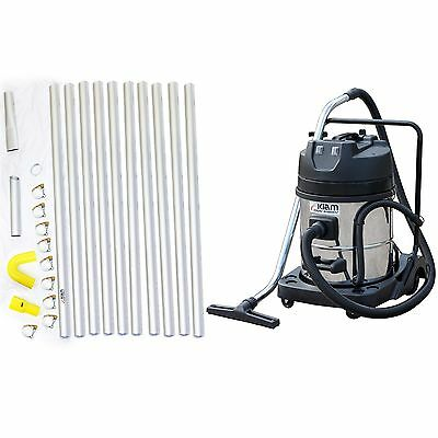 £6.95 / WEEK on LEASE Gutter Cleaning System Vacuum Cleaner Kiam 40ft 12m Poles