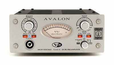 Avalon V5 Preamp DI RE-Mic Preamplifier in Silver Mic Pre V 5