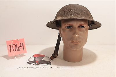 WWI US Dough Boy Helmet with Nice Sand Textured Paint