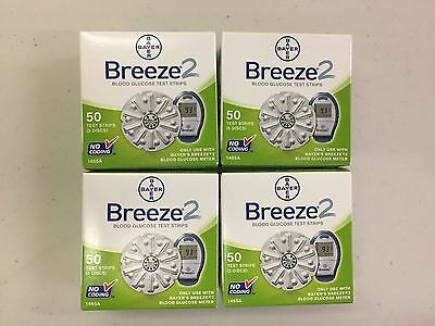 200 Bayer Breeze 2 Diabetic Test Strips EXP. 07/2017 FAST FREE SHIPPING!