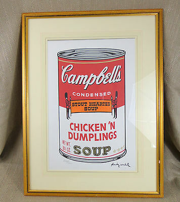 Andy Warhol Print Lithograph CAMPBELLS Soup ORIGINAL CMOA Numbered