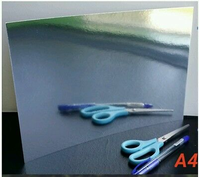 40 , 20  Silver mirror A4 Cards / Mirri Sheets . excellent quality 250gsm paper