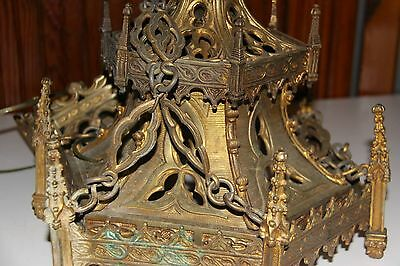 Antique Victorian Gothic Bronze/brass Chandelier