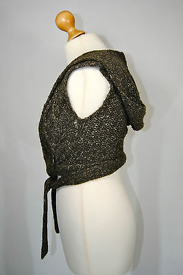 CHALECO cropped mohair capucha MC GREGOR talla XS knit waistcoat with hood