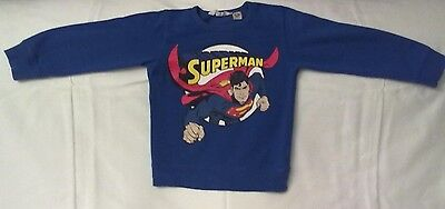 Childs Official Superman Sweat Shirt. 6 Years. Euro 110/116 cm. Excellent condn.
