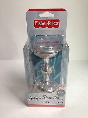 NEW! Fisher Price Baby's First Silver Rattle (Plastic) Ages 3-18 Months