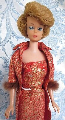 Vtg Barbie Doll Side Part Bubble Cut Transition. American Girl Face Straight Leg