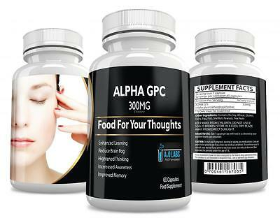 Alpha GPC 300mg X 60 Caps Fortifying Supplement for Memory Brain & Mind