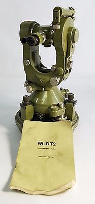 Wild Heerbrugg T2 Universal Theodolite Surveying Level Transit and Bullet Case