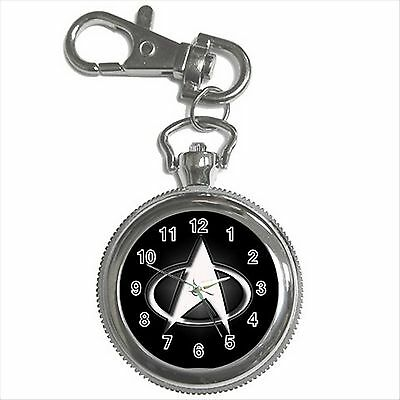 NEW* HOT STAR TREK Silver Color Tone Key Chain Ring Watch Gift