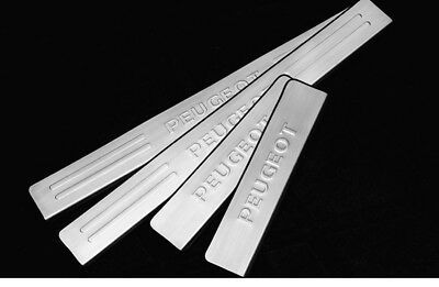 Stainless Steel Door Sill Scuff Plate Guard  for  Peugeot 206 207