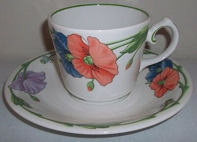 Villeroy & and Boch AMAPOLA large breakfast cup and saucer