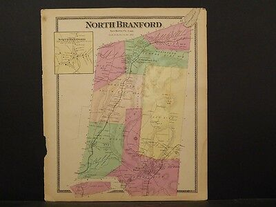 Connecticut, New Haven County Map 1868 Town of North Branford !Z3#68