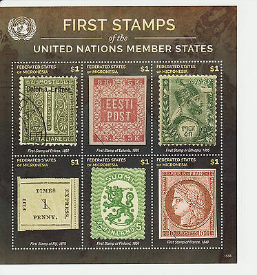 Micronesia 2016 MNH - First Stamps of states - Finland - set of 6 stamps