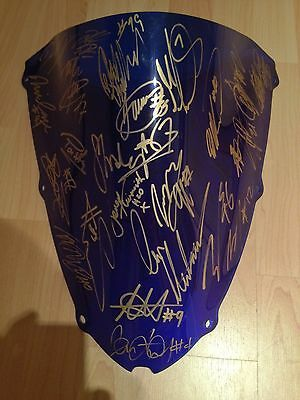 Signed British Superbike Bsb Screen. Lovely Piece Of Memorabillia . Signed By 24