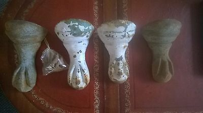 Set Of 4  Vintage/antique Ball And Claw Cast Iron Bath Feet 7""