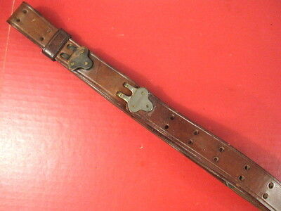WWI US ARMY M1907 Leather Sling for M1918A3 BAR or M1 Garand Rifle - Dated 1918