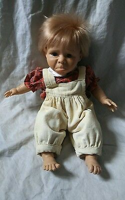 "Vintage 15"" Berenguer Expressions Crying Tears Pouting Soft Body Doll"