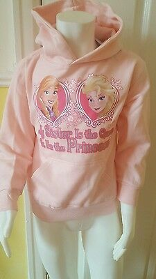 "disney frozen hoodie.""my sister is the Queen& I'm the Princess 5/6 years. 6.99"