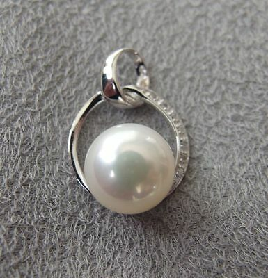 New 925 Sterling silver White Freshwater Cultured Pearl Pendant RRP £22