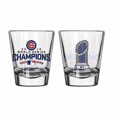 Chicago Cubs Official MLB Licensed 2016 World Series 2oz. Shot Glass