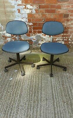 Vintage Evertaut swivel chairs x2