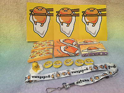 SANRIO GUDETAMA BALL CHAIN KEY CHAIN new japan crate gashapon tissue pin lanyard