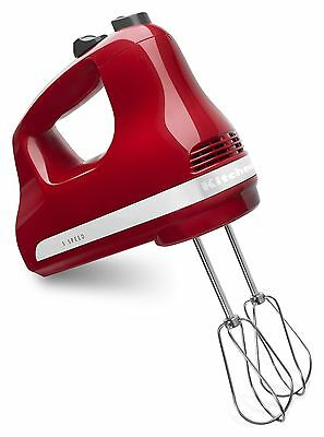 KitchenAid KHM512ER 5-Speed Ultra Power Hand Mixer Empire Red New