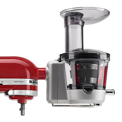 KitchenAid KSM1JA Masticating Juicer and Sauce Attachment Silver New