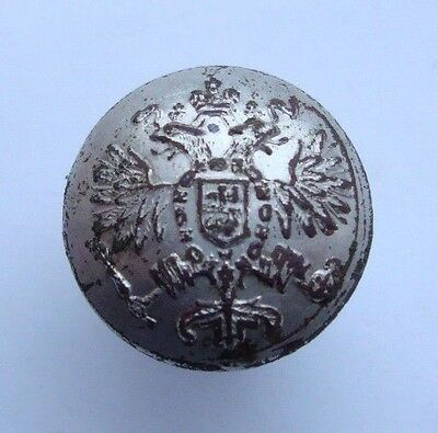 Russia Russian Imperial Army Officer Uniform Button Silvering