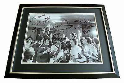 Glasgow Rangers Squad Signed & Framed Autograph X12 Photo Display 1972 Cwc Proof