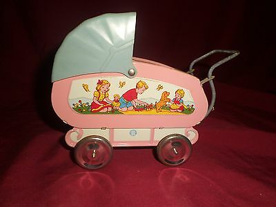 OHIO Art Company Vintage Metal Doll Carriage Toy
