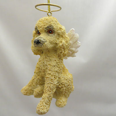 White Poodle Puppy Dog Angel Christmas Tree Ornament New Stocking Stuffer Gift