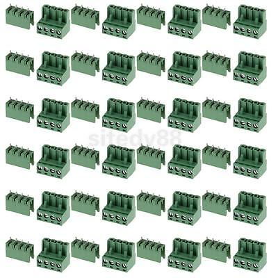 10pcs 5.08mm Straight 4 pin Screw Terminal Block Connector Pluggable Type