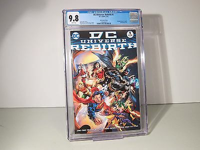 DC UNIVERSE: REBIRTH # 1 CGC 9.8 FIRST PRINTING! Midnight Release Variant