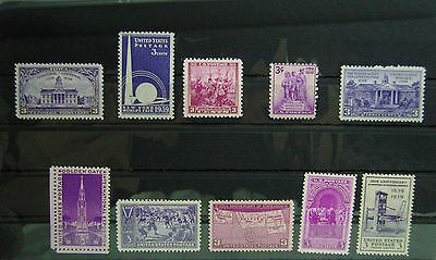 Collection of Unmounted Mint stamps from USA circa 1939