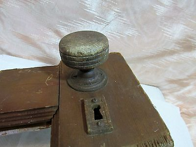 Antique Victorian Wood Door Knob Set, Architectural Salvage