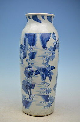 Fine  beautiful chinese hand-painted blue and white Porcelain vase