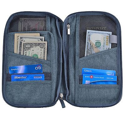 Hopsooken Travel Wallet & Passport Holder Organizer Rfid Blocking ID Card Pou...